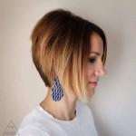 Омбре на коротких волосах