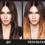Краска для волос L'Oreal Ombre — модные цвета