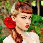 Прически Pin-up: на средние и длинные волосы