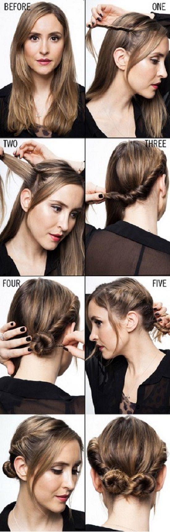 Два пучка на голове по бокам: как сделать 2 шишки, гульки ... | 1717x550