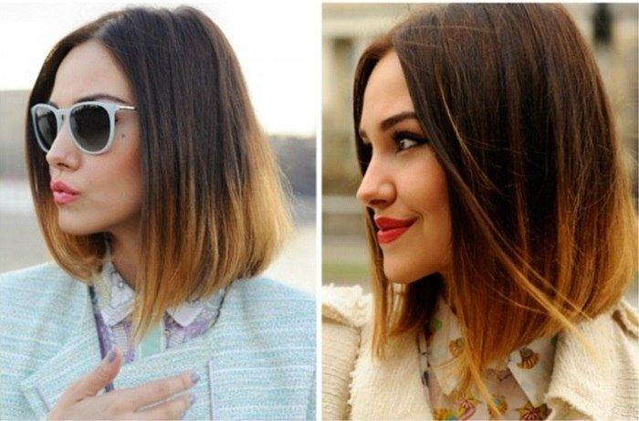 Омбре на каре: короткие, средние и длинные волосы (фото)