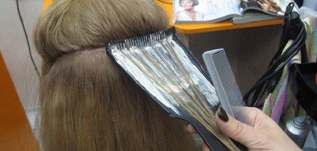 Окраска волос на фольге