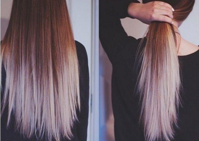 Амбре окрашивание волос красный