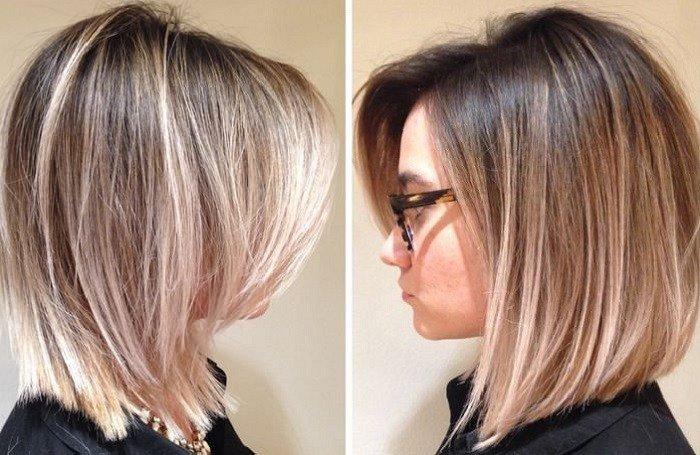 Мелирование окрашенных в блонд