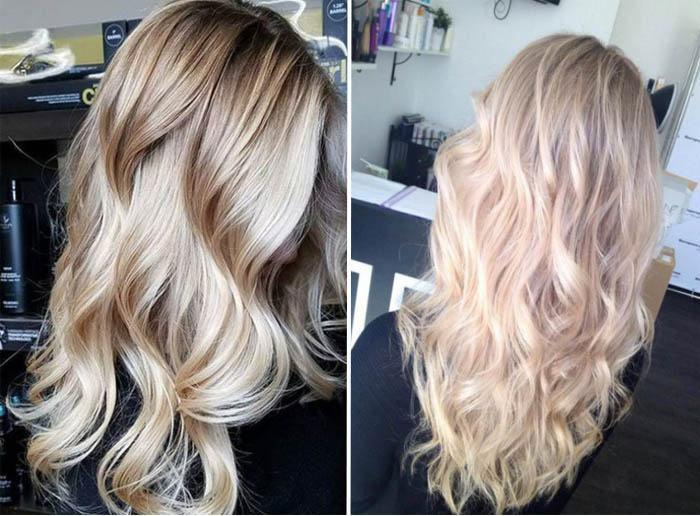 vidy-melirovaniya-na-svetlye-volosy-5 Мелирование на рыжие волосы: фото до и после, окрашивание на медный цвет, с челкой и без, на короткие, длинные, крашеные